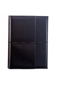 Agenda piele naturala, datata 2021, Pocket, cu interior detasabil, lucrata manual, UNIKA, negru