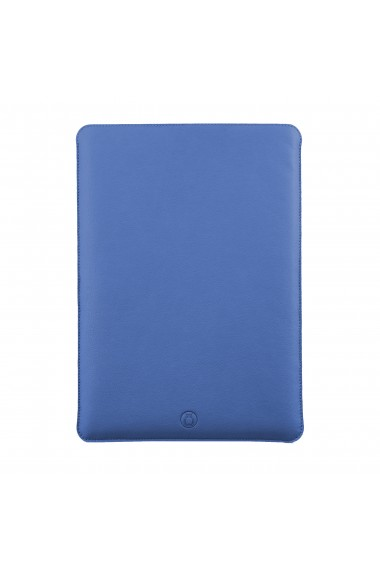 Husa laptop, MacBook 13 inch, UNIKA, piele PU cu lana din fibre naturale, albastru
