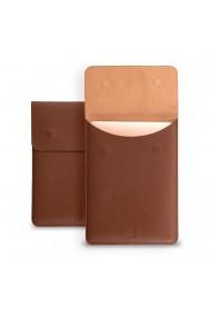 Husa laptop, MacBook 13 inch, piele naturala cu mouse pad, inchidere magnetica, margini vopsite manual, e-store, maro