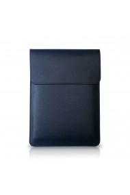 Husa laptop, Macbook 14 inch, piele naturala cu mouse pad, inchidere magnetica, margini vopsite manual, e-store, rosu