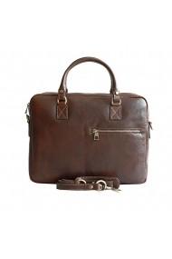 Servieta dama, geanta pentru laptop din piele naturala, maro, DS147B