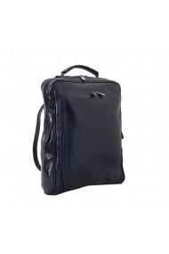 Rucsac port laptop din piele naturala vachetta, bleumarin, RR106E