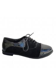 Pantofi oxford L&L din piele ecologica neagra