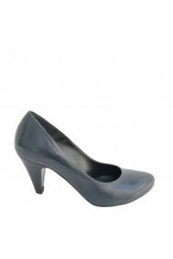 Pantofi cu toc din piele naturala Veronesse 138 bleumarin toc 7 cm