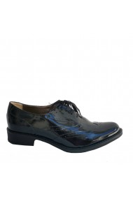 Pantofi Oxford Style Veronesse din piele naturala lacuita neagra