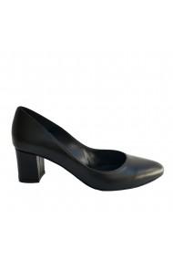 Pantofi cu toc din piele naturala Veronesse cu toc gros 5 cm