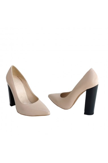 Pantof Stiletto Veronesse din piele naturala toc gros 10.5 cm Veronesse 344/413
