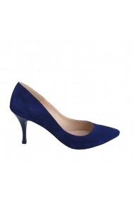 Pantofi stiletto Veronesse cu toc 7.5 cm din piele naturala albastra