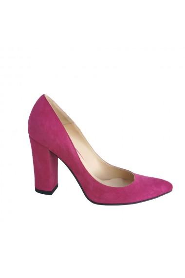 Pantofi stiletto pe toc gros de 10 cm Veronesse 344/322