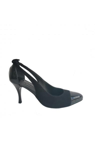 Pantofi cu decupaje laterale Veronesse din piele naturala toc 7 cm