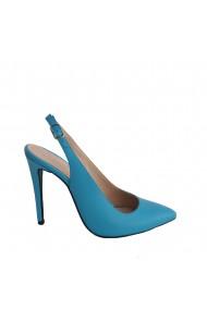 Pantofi stiletto Veronesse decupati la spate cu toc de 11 cm