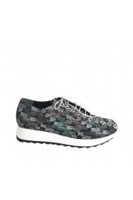 Pantofi sport pe talpa alba si siret pana in varf Veronesse 426/Atlanta