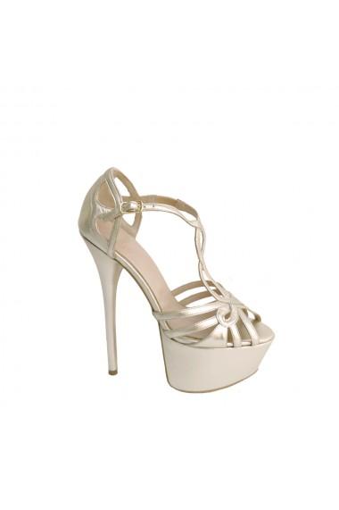 Sandale din piele naturala cu toc de 15 cm Veronesse 520/3874