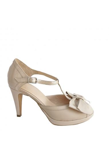 Sandale din piele naturala cu funda mare Veronesse 704/011