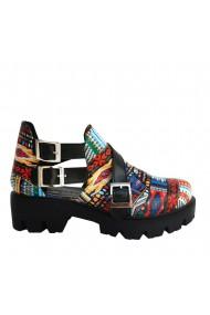 Pantofi Veronesse Destiny Miruna decupate pe lateral cu catarame