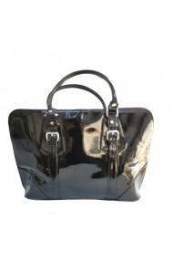Geanta Veronesse 190 - geanta office din piele naturala lacuita neagra