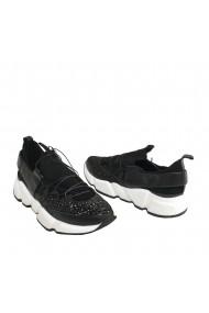 Pantofi sport Veronesse Marko din piele naturala si material glitter straluctior Albi
