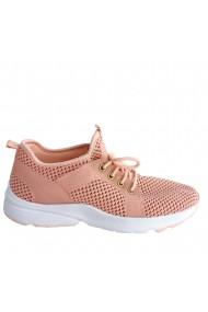 Pantofi sport din material textil Veronesse roz cu talpa alba