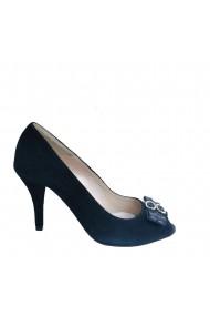 Pantofi decupati in varf Veronesse Filty din piele naturala negru