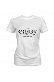 Tricou dama Alb XMADE ''Enjoy''