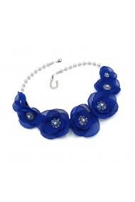 Colier statement flori albastre Blue is the Best