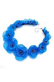 Colier statement flori albastre Blossom