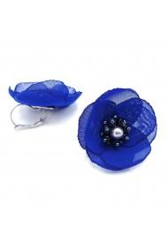Cercei eleganti floare albastra Cindy
