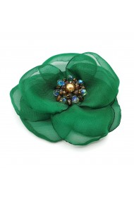 Brosa eleganta floare verde Linda
