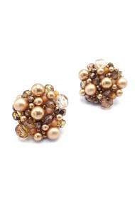Cercei aurii eleganti Gold Drops
