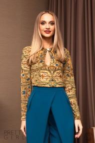 Bluza Pretty Girl cu imprimeu grafic floral