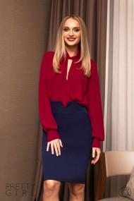 Bluza Pretty Girl office magenta din voal