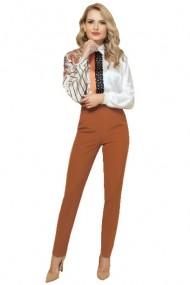 Bluza dama cu imprimeu floral tip paisley camel Camel