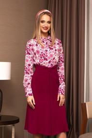 Camasa Pretty Girl cu imprimeu floral magenta