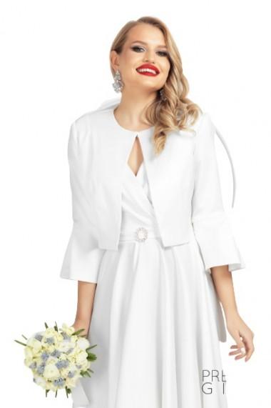 Rochie alba eleganta din tafta elastica Alb