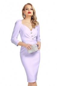 Rochie eleganta lila cu decolteu inima Lila