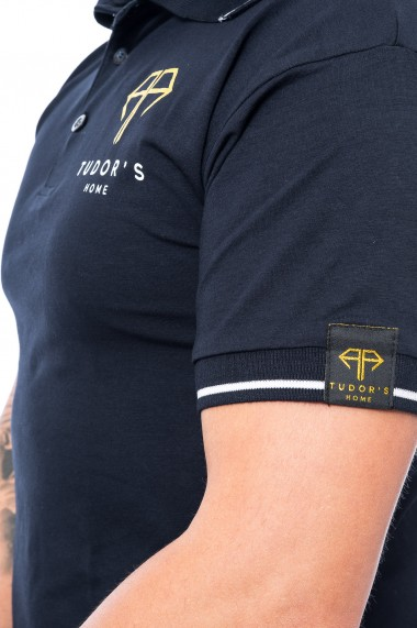 Tricou polo Tudor`s Home Navy