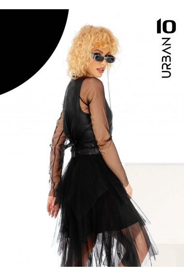 Rochie neagra asimetrica URBAN10