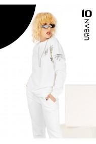 Bluza alba URBAN10 din bumbac