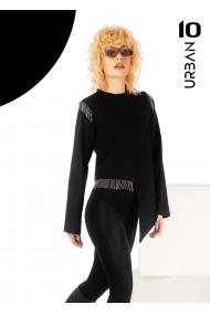 Bluza neagra URBAN10 cu franjuri