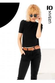 Bluza neagra URBAN10 cu maneca scurta