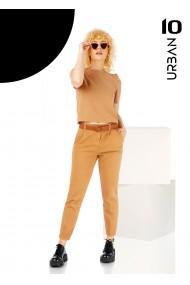 Pantalon camel URBAN10 cu curea