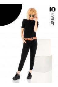 Pantalon negru URBAN10 cu curea
