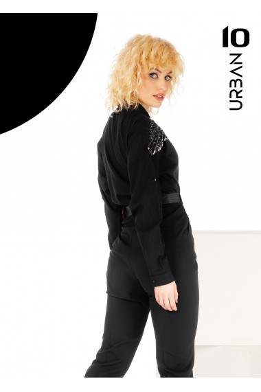 Camasa neagra oversize URBAN10
