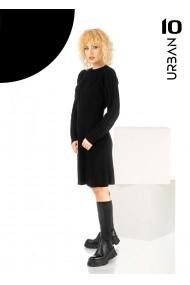Rochie neagra URBAN10 din tricot