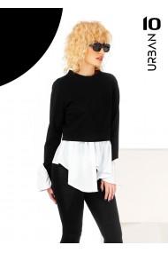 Bluza neagra tip camasa URBAN10