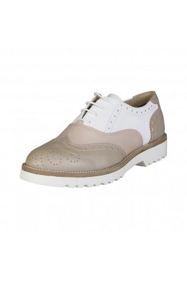 Pantofi Made in Italia NILDE TAUPE PESCA BIANCO bej
