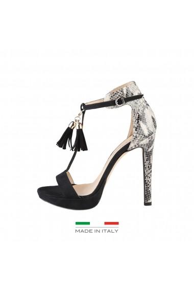 nou ieftin ieftin de vânzare cumpărarea ieftină Sandale cu toc Made in Italia LISA NERO negru - FashionUP!