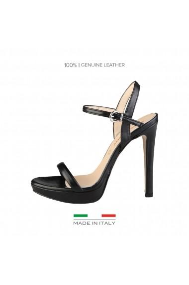 preț scăzut jumătate de preț extrem de elegant Sandale cu toc Made in Italia MARCELLA NERO negru - FashionUP!