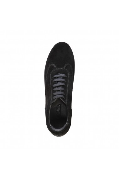 Pantofi sport Sparco IMOLA negri, din piele, cu logo