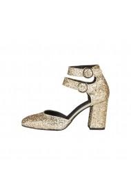 Pantofi cu toc Versace 1969 VERONIQUE PLATINO auriu - els